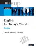 Jean-Michel Dubé et W Marshall - English for Today's World - Society. 1 CD audio
