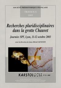 Jean-Michel Geneste - Recherches pluridisciplinaires dans la grotte Chauvet - Journées SPF, Lyon, 11-12 octobre 2003.