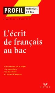 Jean-Michel Gliksohn - L'écrit de français au bac.
