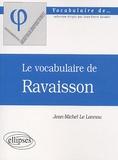 Jean-Michel Le Lannou - Le vocabulaire de Ravaisson.