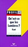 """Jean-Michel Muglioni et Emmanuel Kant - Réponse à la question, """"Qu'est-ce que les Lumières ?"""" - Kant...."""