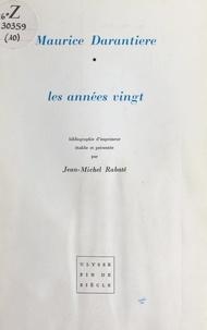 Jean-Michel Rabaté et Albert Gleizes - Les années vingt.