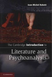Jean-Michel Rabaté - The Cambridge Introduction to Literature and Psychoanaysis.