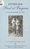 Jean-Michel Racault - Études sur «Paul et Virginie» et l'ouvre de Bernardin de Saint-Pierre.