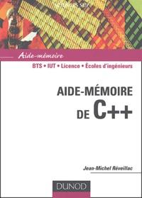 Jean-Michel Réveillac - Aide-mémoire de C++.