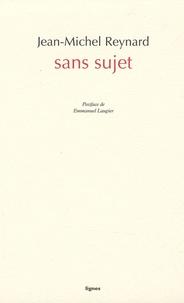 Jean-Michel Reynard - Sans sujet.