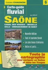 Jean Morlot - Carto-guide fluvial Saône, Seille, Canal des Vosges, Moselle, embranchement de Nancy - Edition français-anglais-allemand.