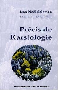 Précis de karstologie - Jean-Noël Salomon | Showmesound.org