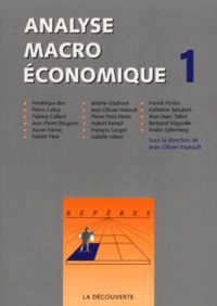 Jean-Olivier Hairault - ANALYSE MACRO ECONOMIQUE - Volume 1.
