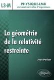 Jean Parizet - La géométrie de la relativité restreinte - Niveau L3-M.