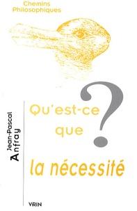 Jean-Pascal Anfray - Qu'est-ce que la nécessité ?.