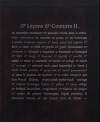 Jean-Pascal Dubost - & Leçons & Coutures II.