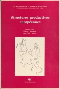 Jean-Paul Auray et Gérard Duru - Structures productives européennes - Analyse prétopologique des phénomènes de dépendance interindustrielle.