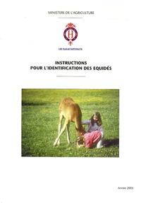 Jean-Paul Bernard - Instructions pour l'identification des équidés.