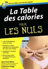 Jean-Paul Blanc et Catherine Poggi - La table des calories pour les nuls.
