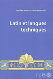Jean-Paul Brachet et Claude Moussy - Latin et langues techniques.