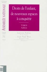 Jean-Paul Bret - RAPPORT D'INFORMATION DE L'ASSEMBLEE NATIONALE NUMERO 871 MAI 1998 : DROITS DE L'ENFANT, DE NOUVEAUX ESPACES A CONQUERIR. - Tomes 1 et 2.