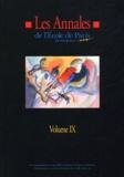 Jean-Paul Bucher et  Collectif - Les Annales de l'Ecole de Paris du management - Volume 9, Travaux de l'année 2002.