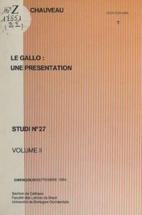 Jean-Paul Chauveau et  Faculté des lettres de Brest - Le gallo : une présentation (2).
