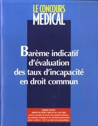 Jean-Paul Chodkiewicz et Alain Papelard - Barème indicatif d'évaluation des taux d'incapacité en droit commun.