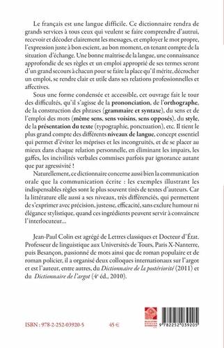 Nouveau dictionnaire des difficultés grammaticales, stylistiques et orthographiques du français