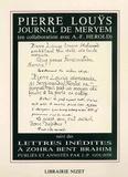 Jean-Paul Goujon et André-Ferdinand Herold - Journal de Meryem (1894) - Suivi des Lettres inédites à Zohra bent Brahim (1897-1899).