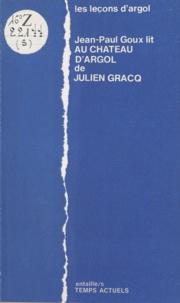 """Jean-Paul Goux - Les Leçons d'""""Argol""""."""