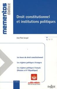 Jean-Paul Jacqué - Droit constitutionnel et institutions politiques 2010.