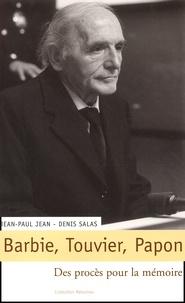 Jean-Paul Jean et Denis Salas - .