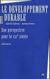 Jean-Paul Maréchal et Bernard Quenault - Le développement durable - Une perspective pour le XXIe siècle.