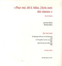 """Jean-Paul Michel et Michaël Sebban - """"Pour moi, dit-il, hélas, j'écris avec des ciseaux."""" - Via di levare."""