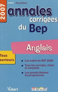 Anglais- Annales corrigées du BEP - Jean-Paul Pouderon |
