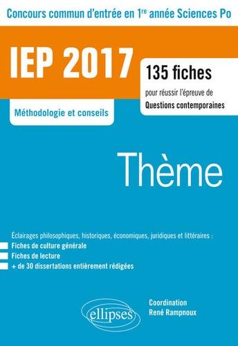 Jean-Paul Rampnoux - Concours commun d'entrée en première année d'IEP/Sciences Po - La sécurité/La mémoire.