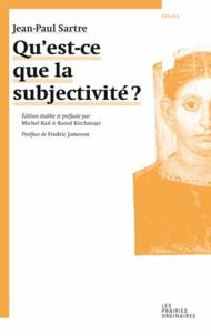 Jean-Paul Sartre - Qu'est-ce que la subjectivité ?.
