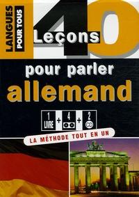 Checkpointfrance.fr 40 leçons pour parler allemand - 4 cassettes audio + 2 CD audio Image