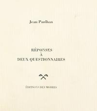 Jean Paulhan - Réponses à deux questionnaires.
