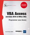 Jean-Philippe André - VBA Access (versions 2019 et Office 365) - Programmer sous Access.