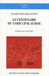 Jean-Philippe Dunand - Le centenaire du code civil suisse - Colloque du 5 avril 2007.