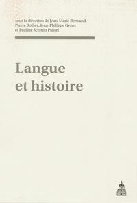 Jean-Philippe Genet - Langue et histoire.