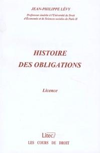 Jean-Philippe Lévy - Histoire des obligations - Licence.