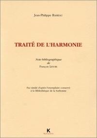 Jean-Philippe Rameau - Traité de l'harmonie.