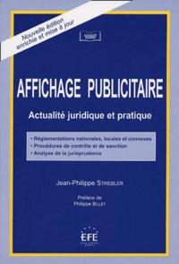 Jean-Philippe Strebler - Affichage publicitaire - Actualité juridique et pratique.
