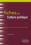 Jean-Philippe Tricoit - Fiches de culture juridique - Rappel de cours et exercices corrigés.