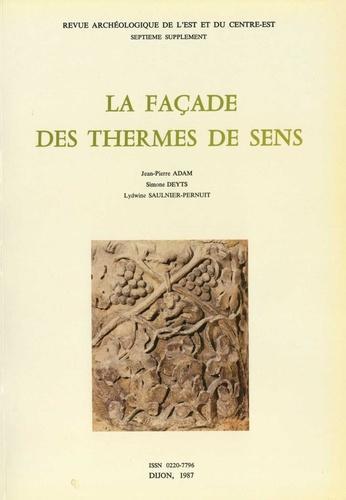 La façade des thermes de Sens