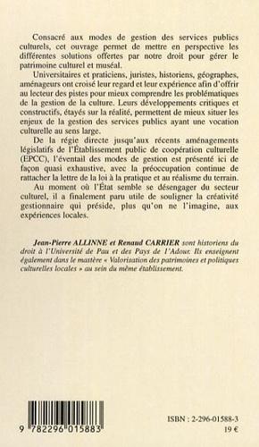 Gérer la culture en région. Les pratiques des collectivités territoriales en France