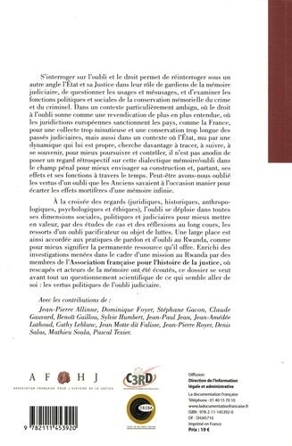 Justice et oubli. France-Rwanda