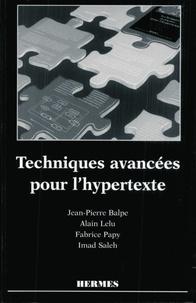 Jean-Pierre Balpe - Techniques avancées pour l'hypertexte.