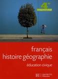 Jean-Pierre Barthonnat et Claudine Lancien - Français, histoire géographie, éducation civique, 4e enseignement adapté.