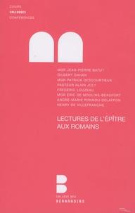 Jean-Pierre Batut et Gilbert Dahan - Lectures de l'Epître aux Romains - Colloque de la faculté Notre-Dame, 27 et 28 mars 2009.