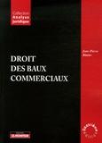Jean-Pierre Blatter - Droit des baux commerciaux.